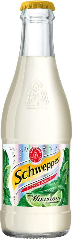 Schweppes Мохито напиток сильногазированный, 0,25 л0120710Schweppes Мохито – освежающий напиток со вкусом лайма и мяты с традиционной для Schweppes горчинкой. Это изысканный продукт, пополнивший портфель бренда Schweppes в 2015 году.
