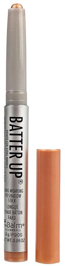 theBalm BatterUp Устойчивые кремовые тени-стик, Curveball, 1,6 г34788818203BatterUp это 8 великолепных оттенков теней от The Balm, выполненных в форме стика для легкого создания самых ярких smoky eyes.Высокопигментированная кремовая текстура теней ложится плотным слоем и легко растушевывается по коже век с помощью кисти, позволяя добиться нужной интенсивности оттенка.Удобная форма и оптимальная величина стика позволяет без труда наносить тени как на верхнее, так и на нижнее веко, что делает процесс создания smoky eyes значительно быстрее, а главное аккуратнее (больше не нужно удалять осыпающиеся тени и заново наносить консилер после макияжа глаз!).