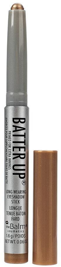 theBalm BatterUp Устойчивые кремовые тени-стик, Shutout, 1,6 г34788436010BatterUp это 8 великолепных оттенков теней от The Balm, выполненных в форме стика для легкого создания самых ярких smoky eyes.Высокопигментированная кремовая текстура теней ложится плотным слоем и легко растушевывается по коже век с помощью кисти, позволяя добиться нужной интенсивности оттенка.Удобная форма и оптимальная величина стика позволяет без труда наносить тени как на верхнее, так и на нижнее веко, что делает процесс создания smoky eyes значительно быстрее, а главное аккуратнее (больше не нужно удалять осыпающиеся тени и заново наносить консилер после макияжа глаз!).