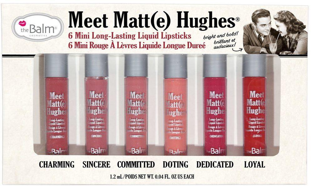 theBalm Meet Matt(e) Hughes Набор из 6 оттенков жидких матовых помад, 1,2 мл блеск thebalm стойкий матирующий для губ meet matt e hughes dedicated