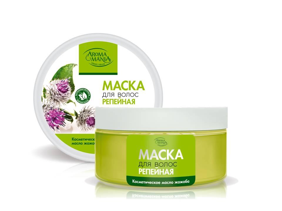 Лекус Аромамания Маска для волос репейная, 250 мл4604903000172Репейная маска укрепляет корни волос, улучшает структуру и полноценно восстанавливает волосы, пробуждая их жизненную силу. Косметическое масло жожоба омолаживает и интенсивно питает витамином Е и прекрасно увлажняет.. Результат - сильные, живые волосы, наполненные здоровым блеском и увлажненные до самых кончиков.