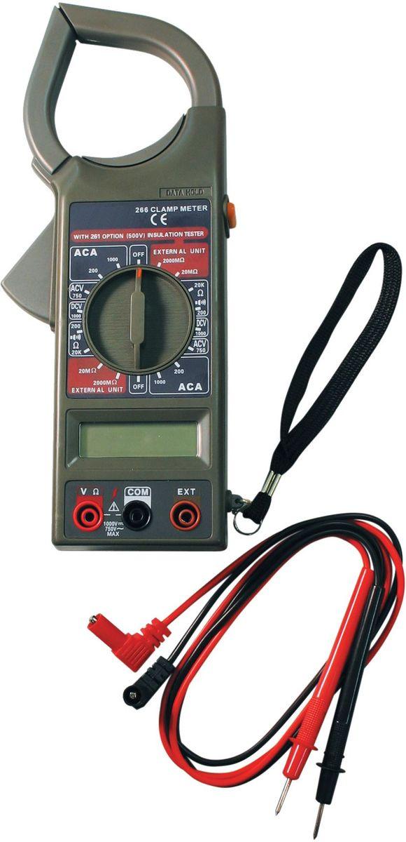 Клемметр ТЕК DT 266100123,5 разрядный ж/к дисплей (1999 чисел с автоматическим определением полярности и единиц измерения);измерение тока;проверка изоляции;измерение напряжения;измерение сопротивления.Постоянное напряжение - 1000 В DCV погрешность ±0,8%Переменное напряжение - 750 В ACV погрешность ±1,2%Сопротивление - 200М-2000 кОм погрешность ±1.0%