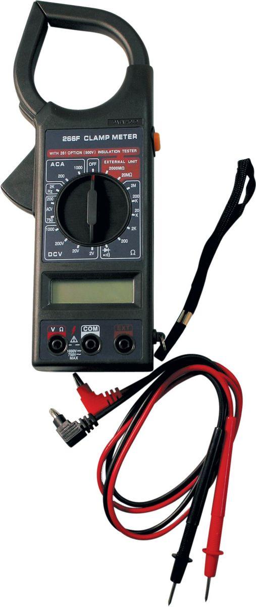 Клемметр ТЕК DT 266FCA-35053,5 разрядный ж/к дисплей (1999 чисел с автоматическим определением полярности и единиц измерения);измерение тока;проверка изоляции;измерение напряжения;измерение сопротивления.Комплектность: щупы; инструкция; коробка.Постоянное напряжение - 1000 В погрешность ±0,8%Переменное напряжение - 750 В погрешность ±1,2%Сопротивление - 200М-2000 кОм -погрешность ±1.0%Частота - 2кГц погрешность ±4.0%