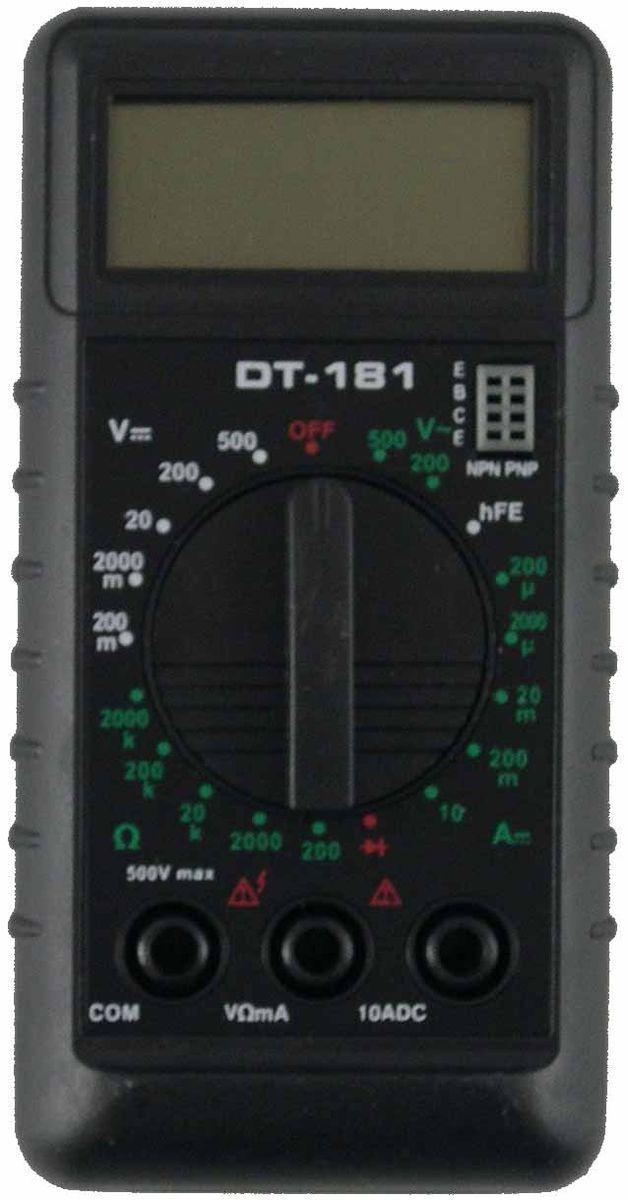 Мультиметр Ресанта DT 181662583,5 разрядный ж/к дисплей (1999 чисел с автоматическим определением полярности и единиц измерения);20-позиционный переключатель режимов работы и пределов;высокая чувствительность – 100 мкВ;автоматическая индикация перегрузки – «1»;автоматическое определение полярности постоянного тока или напряжения;все пределы защищены от перегрузок.Постоянное напряжение - 200 м-2-20-200-1000 В DCVПогрешность ±0,8%Переменное напряжение - 200-750 ВПогрешность ±1,5%Постоянный ток - 200-2000 мк-20 м-200 мк-10 А DCAПогрешность ±1,2%Сопротивление - 200-2000-20 к-2500 к-2000 кОмПогрешность ±1.0%Проверка диодов - 3 В/0,8 мВУсиление транзистора - 0-1000 hFE