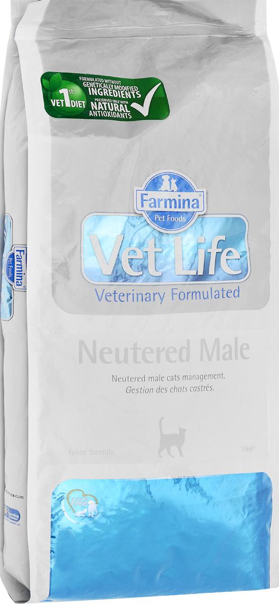 Корм сухой Farmina Vet Life для взрослых кастрированных котов, диетический, 10 кг0120710Сухой корм Farmina Vet Life - это диетическое полнорационное и сбалансированное питание для взрослых кастрированных котов.Сниженная энергетическая плотность продукта ограничивает риск развития ожирения. Высокая биологическая ценность белков и L-карнитин способствуют поддержанию мышечной массы и использованию запасов жиров. Низкое содержание углеводов снижает вероятность развития диабета. Низкое содержание фосфора и магния, а также сульфат кальция снижают риск развития мочекаменной болезни.Товар сертифицирован.