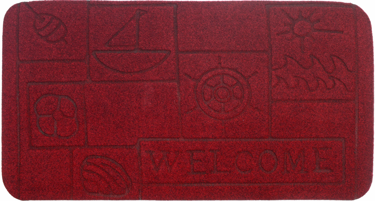 Коврик придверный EFCO Оскар. Кораблик, цвет: бордовый, 70 х 40 см11169Оригинальный придверный коврик EFCO Оскар. Кораблик надежно защитит помещение от уличной пыли и грязи. Изделие выполнено из 100% полипропилена, основа - латекс. Такой коврик сохранит привлекательный внешний вид на долгое время, а благодаря латексной основе, он легко чистится и моется.