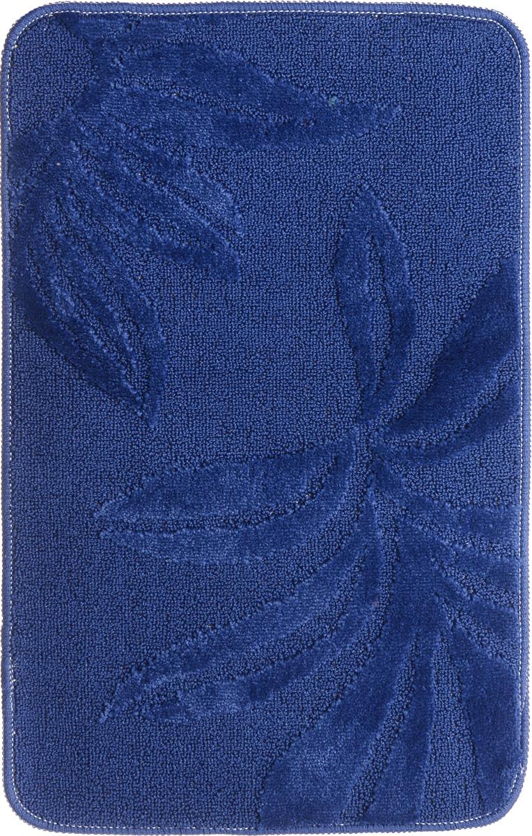 Коврик для ванной комнаты Fresh Code Орнамент, цвет: темно-синий, 80 х 50 см391602Коврик для ванной Fresh Code изготовлен из 100% акрила с латексной основой. Коврик, украшенный элегантным однотонным жаккардовым рисунком, создаст уют в ванной комнате. Высокий акриловый ворс коврика хорошо впитывает воду, создает комфортное покрытие.Рекомендации по уходу: - стирать в ручном режиме, - не использовать отбеливатели, - не гладить,- не подходит для сухой чистки (химчистки).