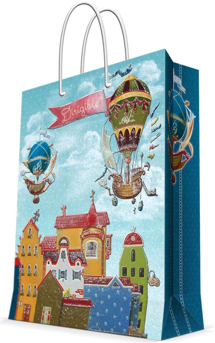 Пакет подарочный Magic Home Дирижабли в лето, 17,8 х 22,9 х 9,8 см43518Подарочный пакет Magic Home, изготовленный из плотной бумаги, станет незаменимым дополнением к выбранному подарку. Дно изделия укреплено картоном, который позволяет сохранить форму пакета и исключает возможность деформации дна под тяжестью подарка. Пакет выполнен с глянцевой ламинацией, что придает ему прочность, а изображению - яркость и насыщенность цветов. Для удобной переноски имеются две ручки в виде шнурков.Подарок, преподнесенный в оригинальной упаковке, всегда будет самым эффектным и запоминающимся. Окружите близких людей вниманием и заботой, вручив презент в нарядном, праздничном оформлении.Плотность бумаги: 140 г/м2.