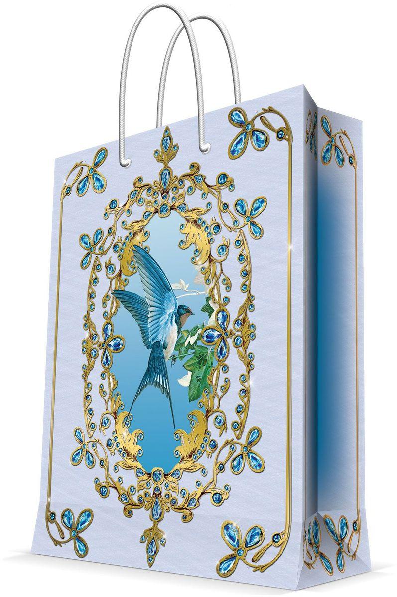Пакет подарочный Magic Home Ласточка, 26 х 32,4 х 12,7 см44221Подарочный пакет Magic Home, изготовленный из плотной бумаги, станет незаменимым дополнением к выбранному подарку. Дно изделия укреплено картоном, который позволяет сохранить форму пакета и исключает возможность деформации дна под тяжестью подарка. Пакет выполнен с глянцевой ламинацией, что придает ему прочность, а изображению - яркость и насыщенность цветов. Для удобной переноски имеются две ручки в виде шнурков.Подарок, преподнесенный в оригинальной упаковке, всегда будет самым эффектным и запоминающимся. Окружите близких людей вниманием и заботой, вручив презент в нарядном, праздничном оформлении.Плотность бумаги: 140 г/м2.