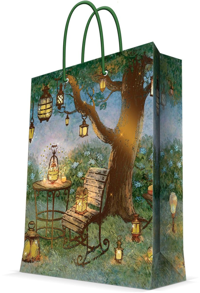 Пакет подарочный Magic Home Волшебные фонари, 26 х 32,4 х 12,7 смC0038550Подарочный пакет Magic Home, изготовленный из плотной бумаги, станет незаменимым дополнением к выбранному подарку. Дно изделия укреплено картоном, который позволяет сохранить форму пакета и исключает возможность деформации дна под тяжестью подарка. Пакет выполнен с глянцевой ламинацией, что придает ему прочность, а изображению - яркость и насыщенность цветов. Для удобной переноски имеются две ручки в виде шнурков.Подарок, преподнесенный в оригинальной упаковке, всегда будет самым эффектным и запоминающимся. Окружите близких людей вниманием и заботой, вручив презент в нарядном, праздничном оформлении.Плотность бумаги: 140 г/м2.