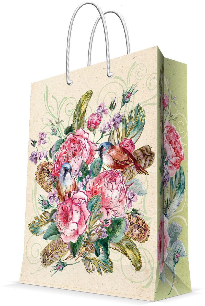 Пакет подарочный Magic Home Розовый куст, 26 х 32,4 х 12,7 смS03201004Подарочный пакет Magic Home, изготовленный из плотной бумаги, станет незаменимым дополнением к выбранному подарку. Дно изделия укреплено картоном, который позволяет сохранить форму пакета и исключает возможность деформации дна под тяжестью подарка. Пакет выполнен с глянцевой ламинацией, что придает ему прочность, а изображению - яркость и насыщенность цветов. Для удобной переноски имеются две ручки в виде шнурков.Подарок, преподнесенный в оригинальной упаковке, всегда будет самым эффектным и запоминающимся. Окружите близких людей вниманием и заботой, вручив презент в нарядном, праздничном оформлении.Плотность бумаги: 140 г/м2.