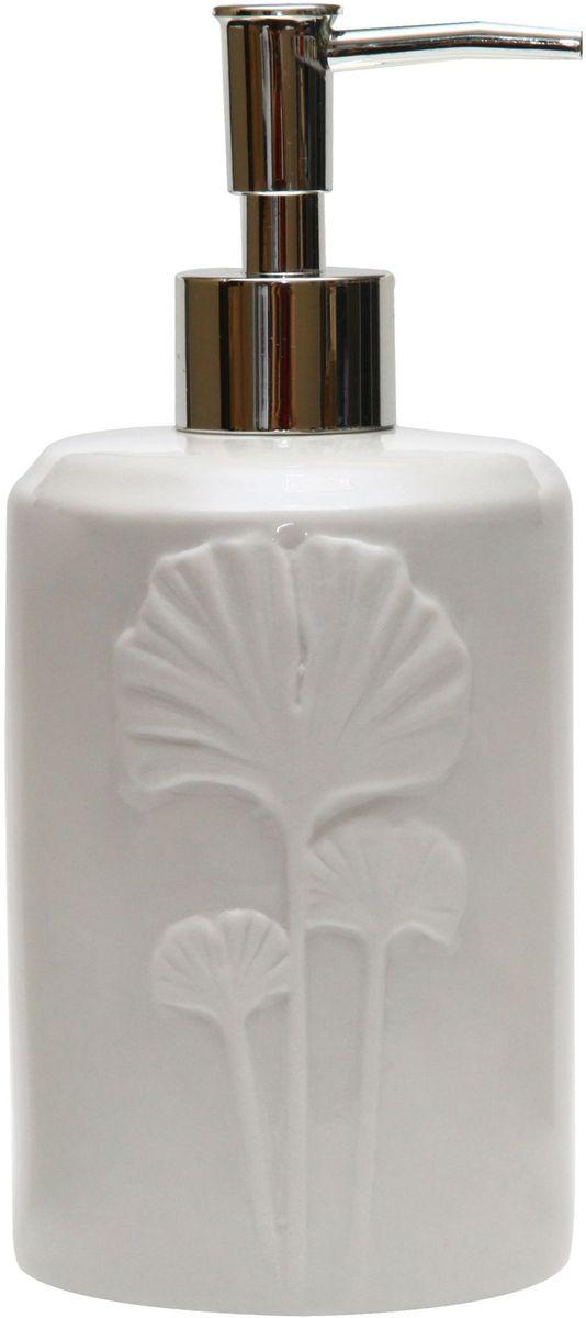 Диспенсер для мыла Proffi Home Лепесток, цвет: белый, 580 мл. PH6502202300Диспенсер для жидкого мыла Proffi Home Лепесток- незаменимый аксессуар для тех, кто ценит чистоту своей раковины и экономный расход мыла. Вы можете легко переставлять его при необходимости. Этот диспенсер выполнен из керамики. Керамика выгодно отличается от других материалов в первую очередь натуральностью и благородным внешним видом. Этот материал устойчив к перепадам температур, повышенной влажности и бытовым химическим средствам. Каучуковое покрытие обеспечивает антискользящий эффект. Благодаря лаконичной форме такой аксессуар отлично впишется в любой интерьер ванной комнаты и станет ее украшением.