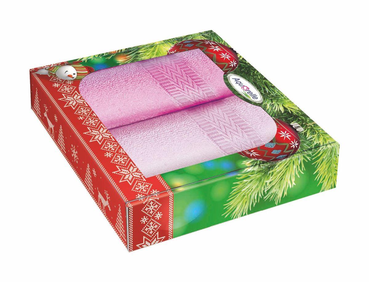 Набор полотенец Aquarelle Настроение, цвет: розовый, орхидея, 50 х 90 см, 2 шт391602Махровые полотенца Aquarelle Настроение - неотъемлемая часть повседневного быта, они создают дополнительные акценты в ванной комнате. Продукция производится из высококачественных материалов.Ткань: 100% хлопок.Плотность: 400 г/м2.Размер: 50х 90 см.В наборе 2 полотенца.