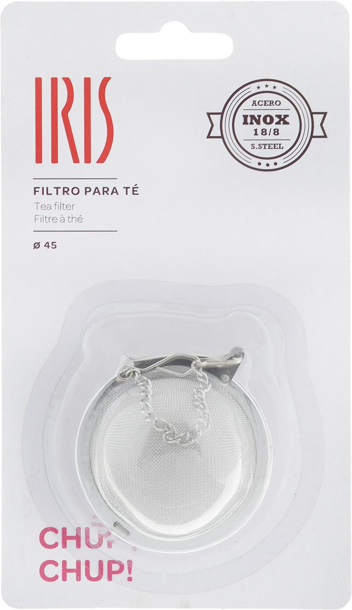 Ситечко для заваривания чая Iris, диаметр 4,5 см115510Ситечко для заваривания чая Iris изготовлено из высококачественной нержавеющей стали. Удобная конструкция ситечка позволяет без особых усилий засыпать заварку в ситечко, поместить его в чашку или чайник с помощью цепочки и после заваривания с легкостью высыпать использованную заварку. При этом напиток остается чистым, как при использовании пакетированного чая, но гораздо более ароматным и полезным. С помощью ситечка удобно контролировать степень заваривания, а в зависимости от количества заварки, одновременно приготовить несколько чашек напитка. Допускается мытье в посудомоечной машинеДиаметр ситечка: 4,5 см.