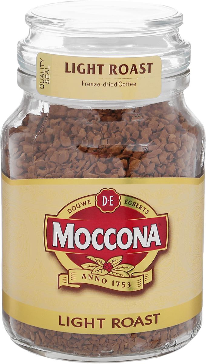 Moccona Light Roast кофе растворимый, 95 г (стеклянная банка)4607031792452Растворимый кофе Moccona Light Roast приготовлен из зёрен светлой (легкой) обжарки, благодаря чему имеет мягкий вкус и тонкий аромат со сбалансированным букетом. Идеальный выбор на каждый день.
