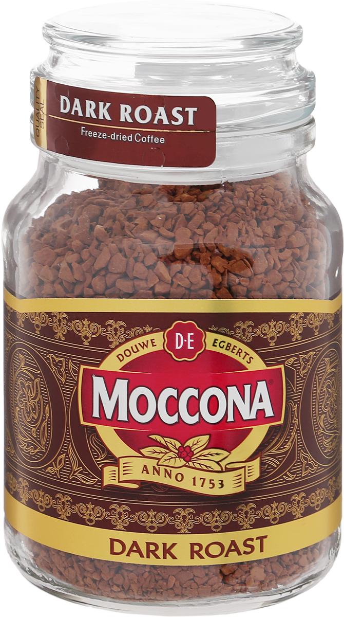 Moccona Dark Roast кофе растворимый, 95 г (стеклянная банка)4251900Moccona Dark Roast - это натуральный растворимый сублимированный кофе. Его терпкий вкус поможет вам взбодриться, где бы вы не были. Приготовлен из зёрен, прошедших темную (сильную) обжарку, обладает ярким послевкусием с лёгкой горчинкой и насыщенным ароматом. Идеально подходит для ценителей крепкого кофе.
