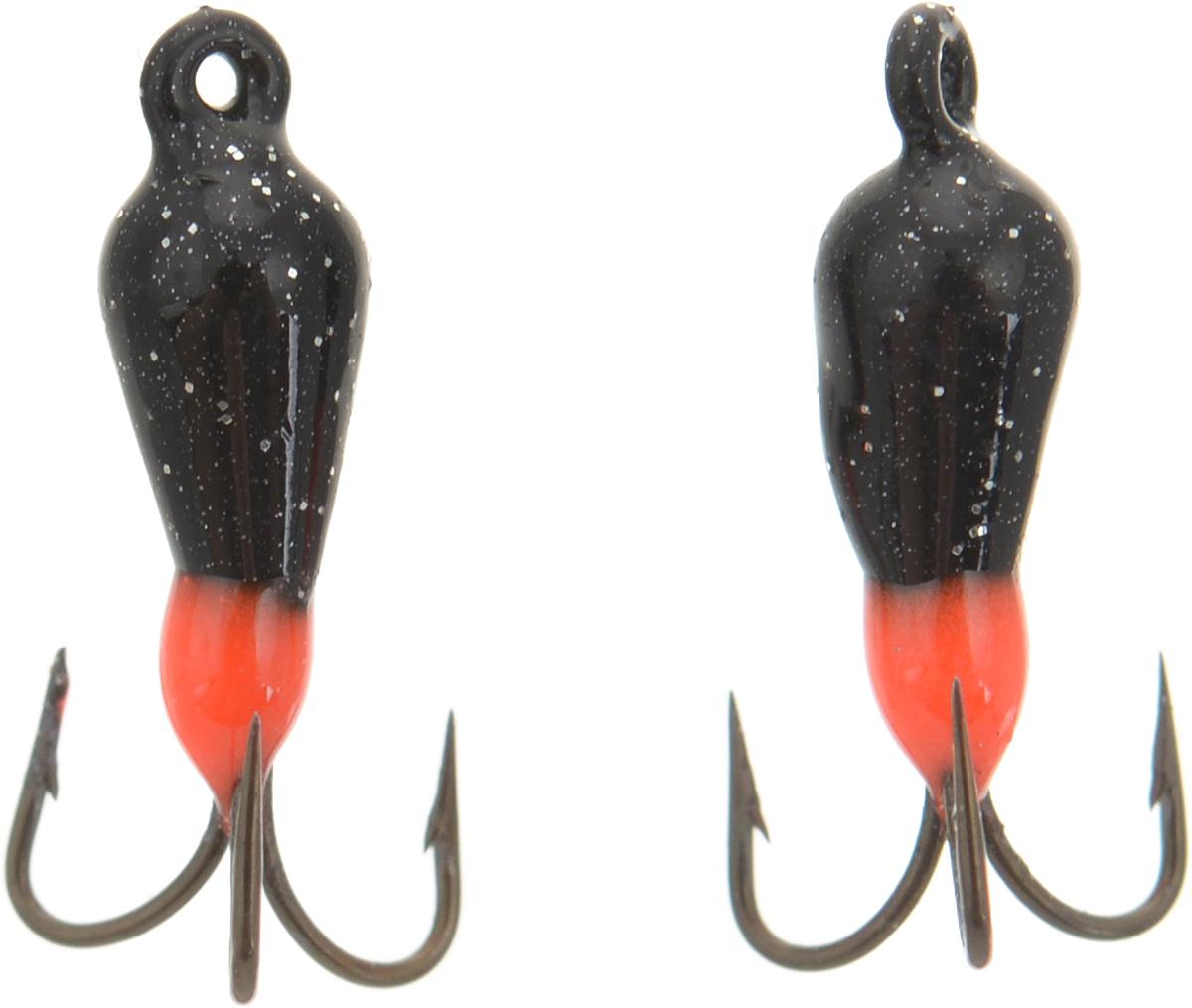 Чертик вольфрамовый Finnex, цвет: черный, красный, 0,38 г, 2 шт43269Вольфрамовый чертик Finnex - одна из самых популярных приманок для ловли леща, плотвы и другой белой рыбы. Особенно хорошо работает приманка на всевозможных водохранилищах. Не пропустит ее и другая рыба, в том числе окунь, судак и щука.