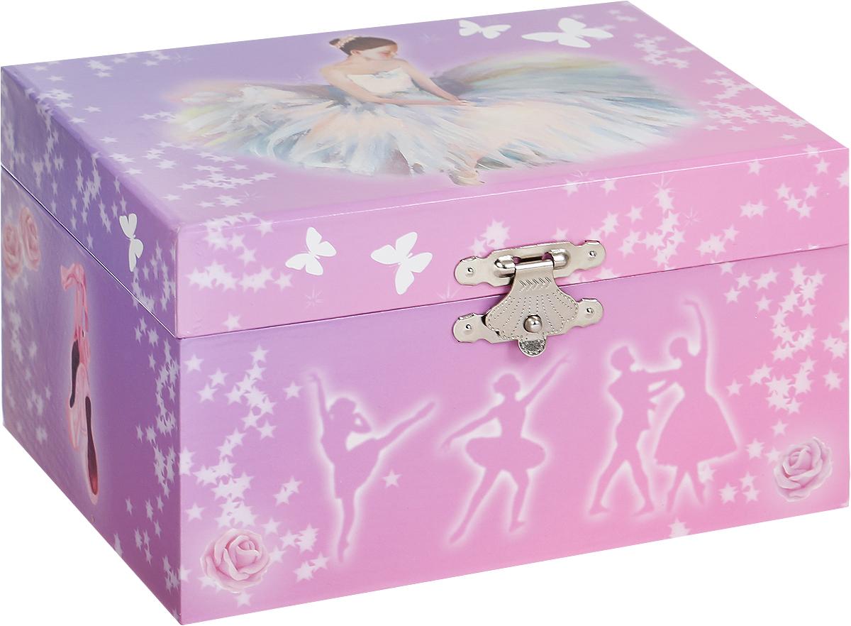 Jakos Музыкальная шкатулка Балерина цвет розовый сиреневый -  Предметы интерьера