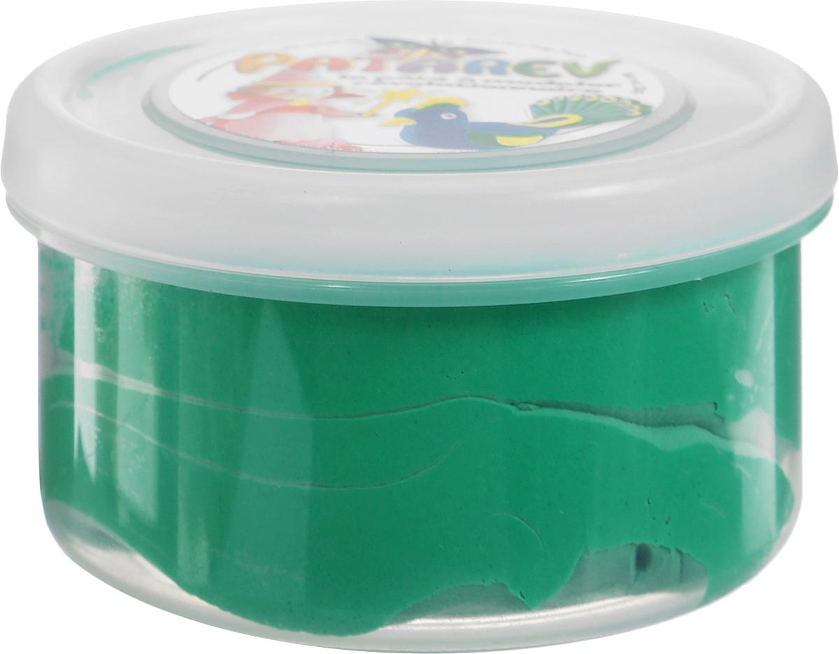 SentoSphere Пластилин Patarev цвет зеленый41782Пластилин Patarev порадует каждого любителя лепки. Он очень мягкий, легко принимает любую форму и хорошо разрезается. После засыхания пластилина ребенок сможет раскрасить готовую фигурку, воплотив все свои идеи. Для того чтобы снова начать работать с пластилином, достаточно добавить к нему немного воды. Удобная упаковка - банка поможет хранить пластилин даже после использования.