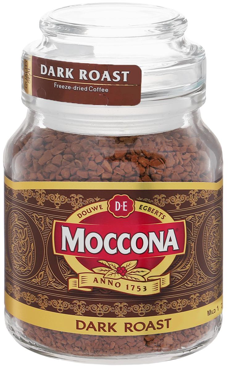 Moccona Dark Roast кофе растворимый, 47,5 г (стеклянная банка)0120710Moccona Dark Roast - это натуральный растворимый сублимированный кофе. Его терпкий вкус поможет вам взбодриться, где бы вы не были. Приготовлен из зёрен, прошедших темную (сильную) обжарку, обладает ярким послевкусием с лёгкой горчинкой и насыщенным ароматом. Идеально подходит для ценителей крепкого кофе.