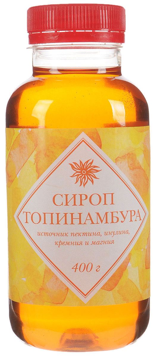 Seryogina сироп топинамбура без лимонного сока, 400 г0120710Сироп топинамбура не обладает ярко выраженным ароматом, поэтому широко используется во многих блюдах и напитках. Сироп удобно и просто применять в кулинарных целях: он легко растворяется в воде. По вкусу напоминает очень молодой жидкий цветочный мед, насыщенного янтарного цвета. Продукт является источником пектина, инулина, кремния и магния.