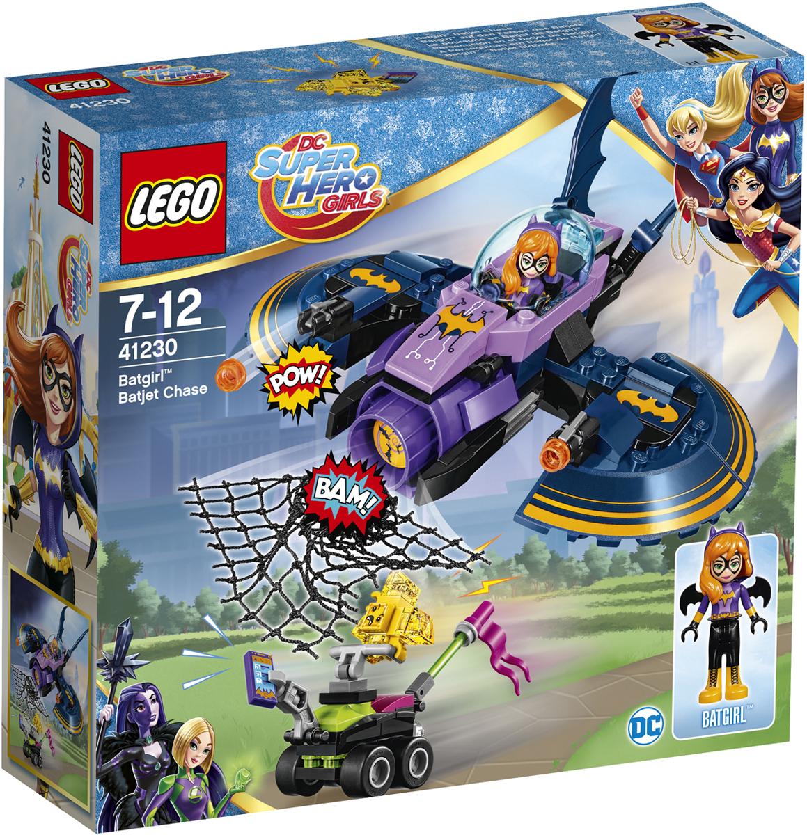 LEGO DC Super Hero Girls Конструктор Бэтгерл погоня на реактивном самолете 41230 секретный бункер бэтгёрл 41237 dc super hero girls lego