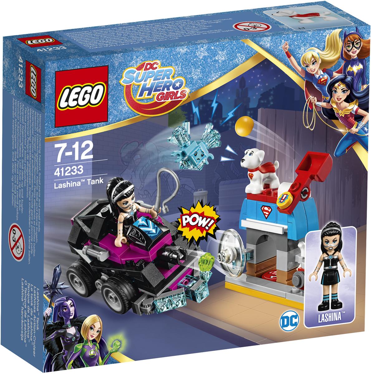 LEGO DC Super Hero Girls Конструктор Танк Лашины 41233 велосипед navigator super hero girls 18 разноцветный двухколёсный