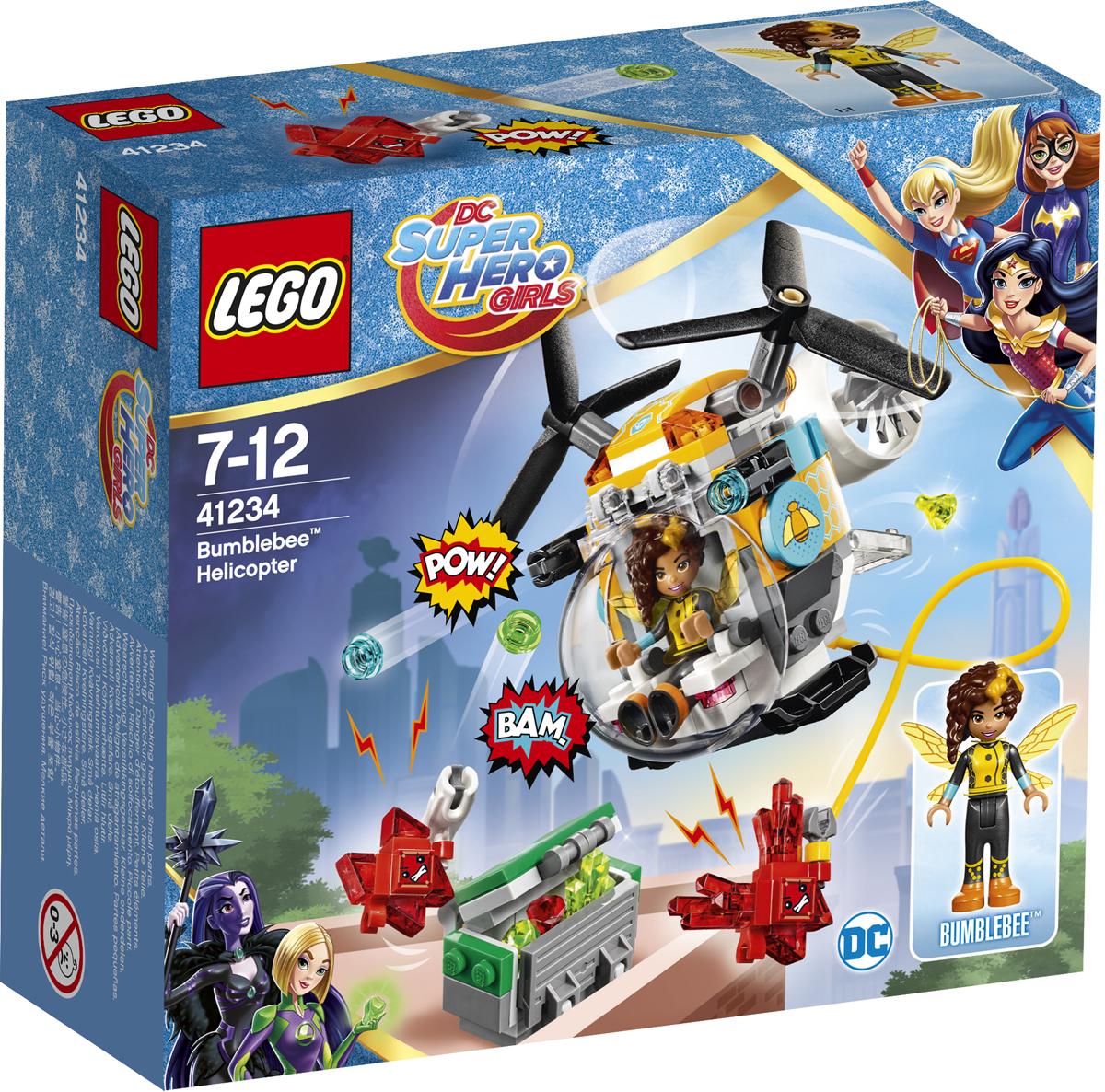 LEGO DC Super Hero Girls Конструктор Вертолет Бамблби 41234 велосипед navigator super hero girls 18 разноцветный двухколёсный
