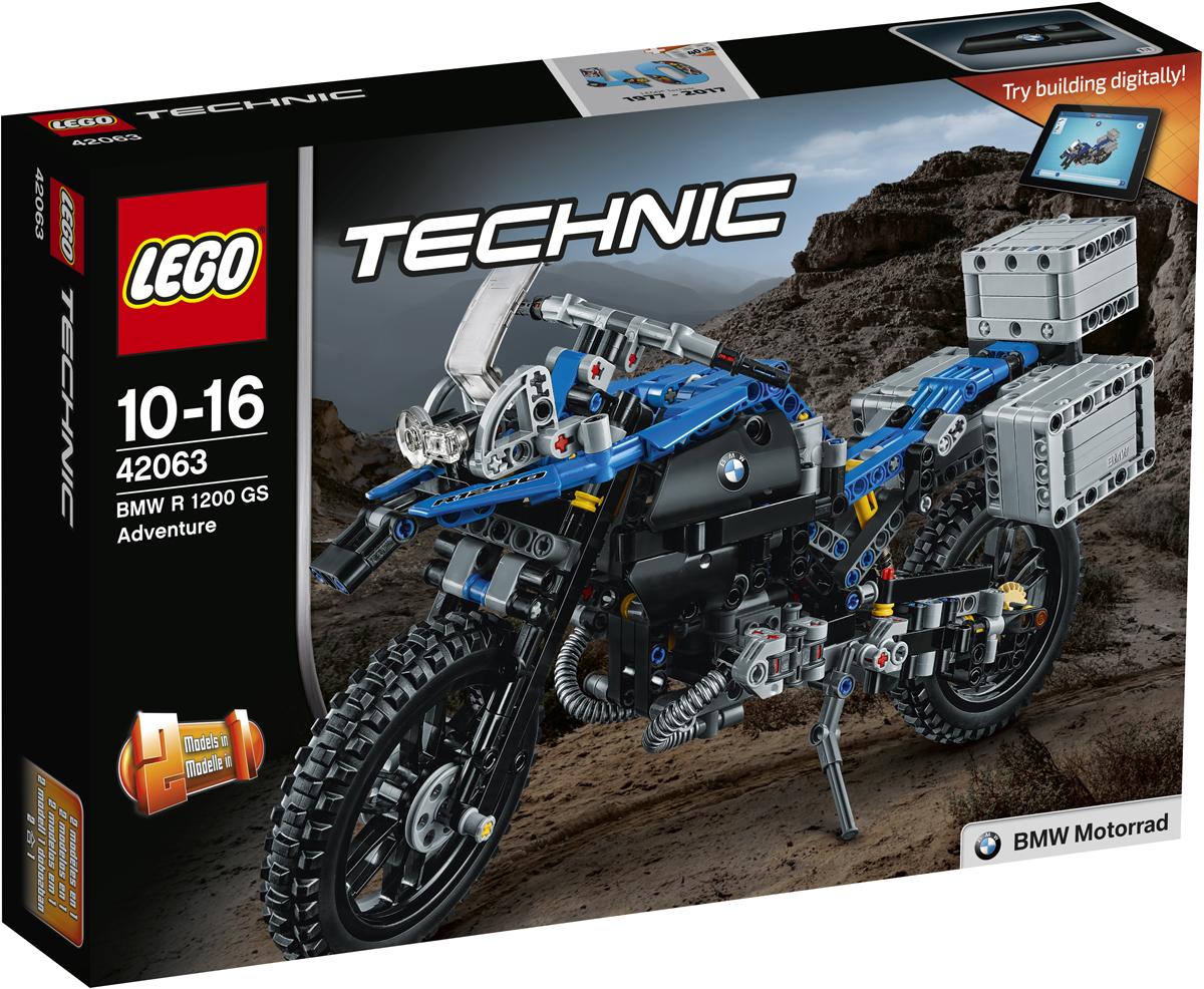 LEGO Technic Конструктор Приключения на BMW R 1200 GS 42063 lego technic конструктор приключения на bmw r 1200 gs 42063