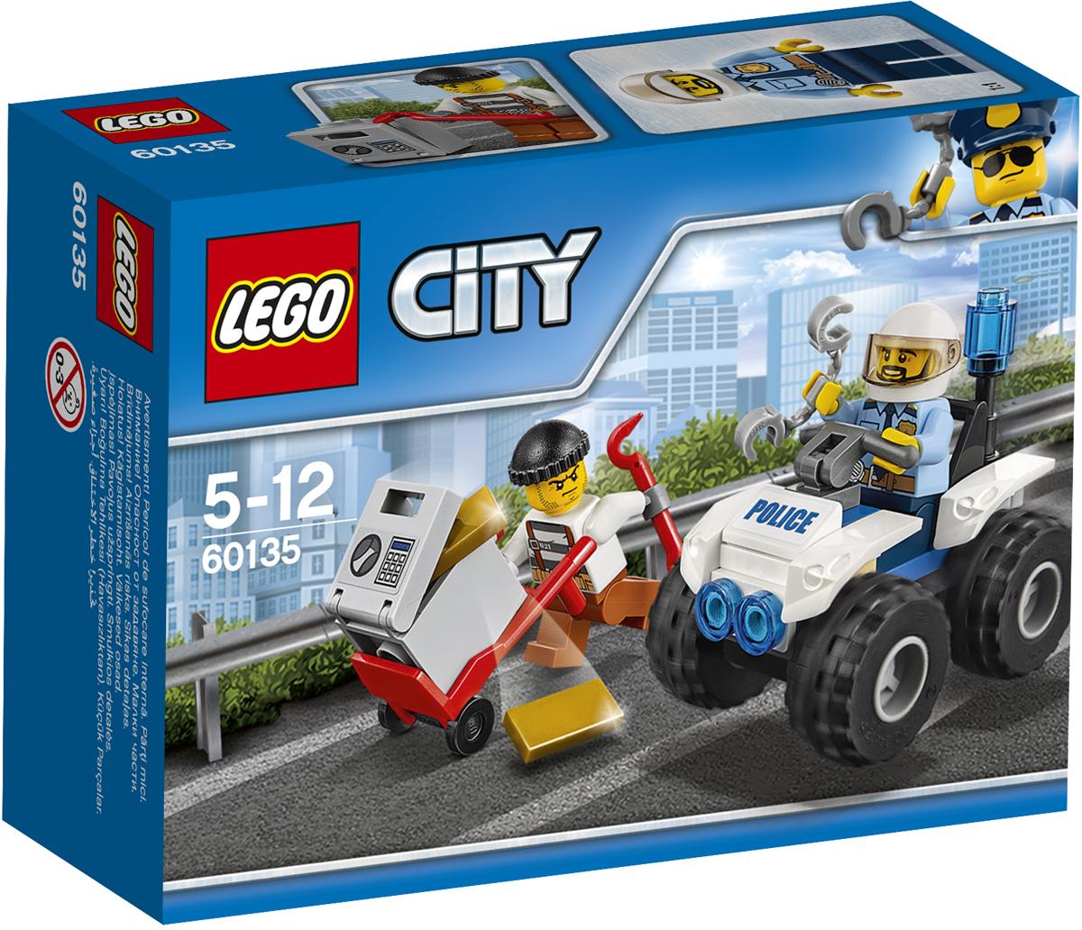 LEGO City Конструктор Полицейский квадроцикл 60135 lego city конструктор внедорожник каскадера 60146