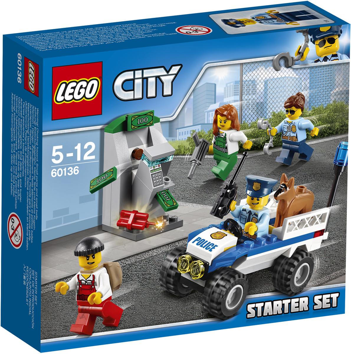 LEGO City Конструктор Полиция Стартовый набор 60136 lego city конструктор внедорожник каскадера 60146