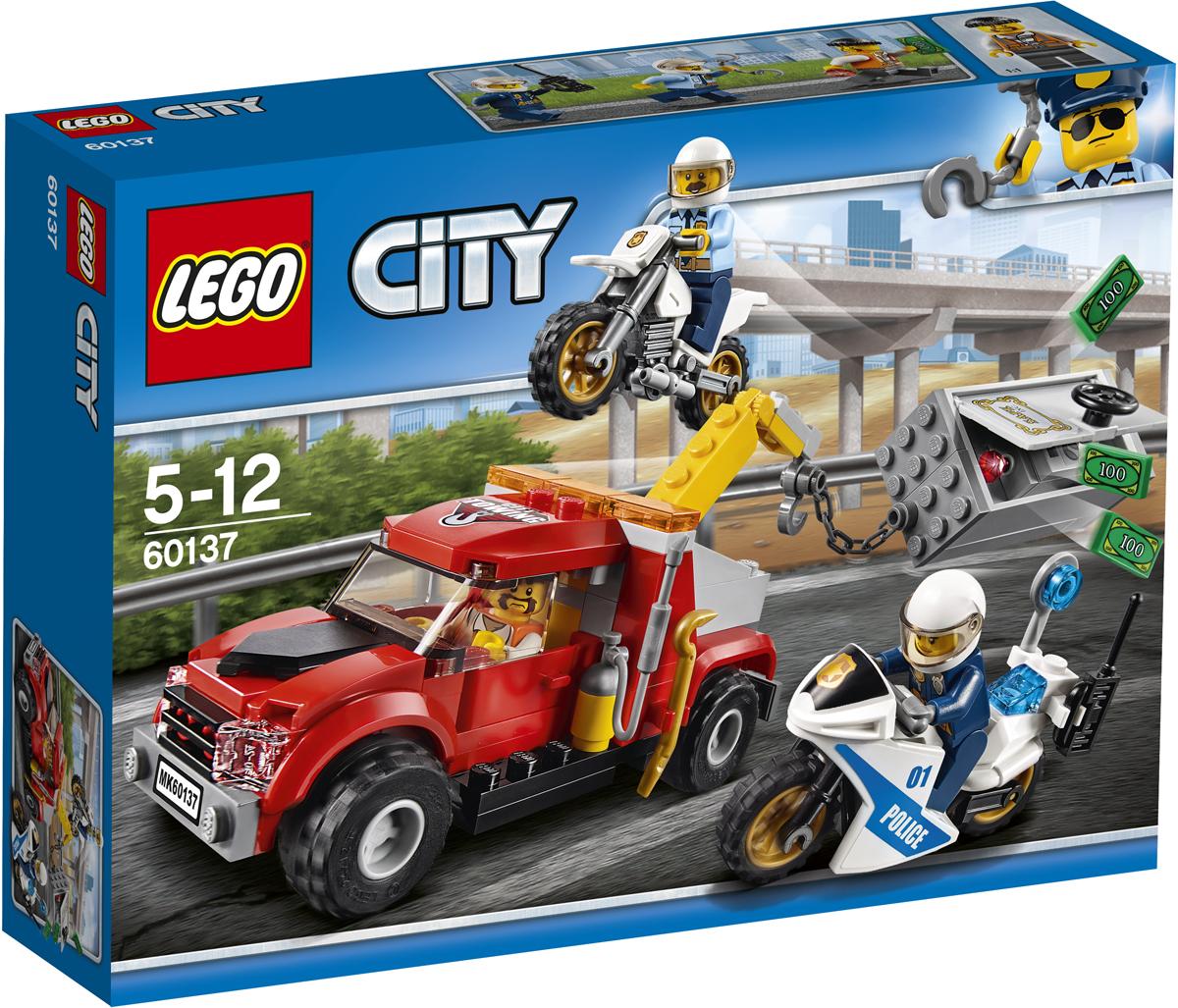 LEGO City Конструктор Побег на буксировщике 60137 lego city конструктор внедорожник каскадера 60146