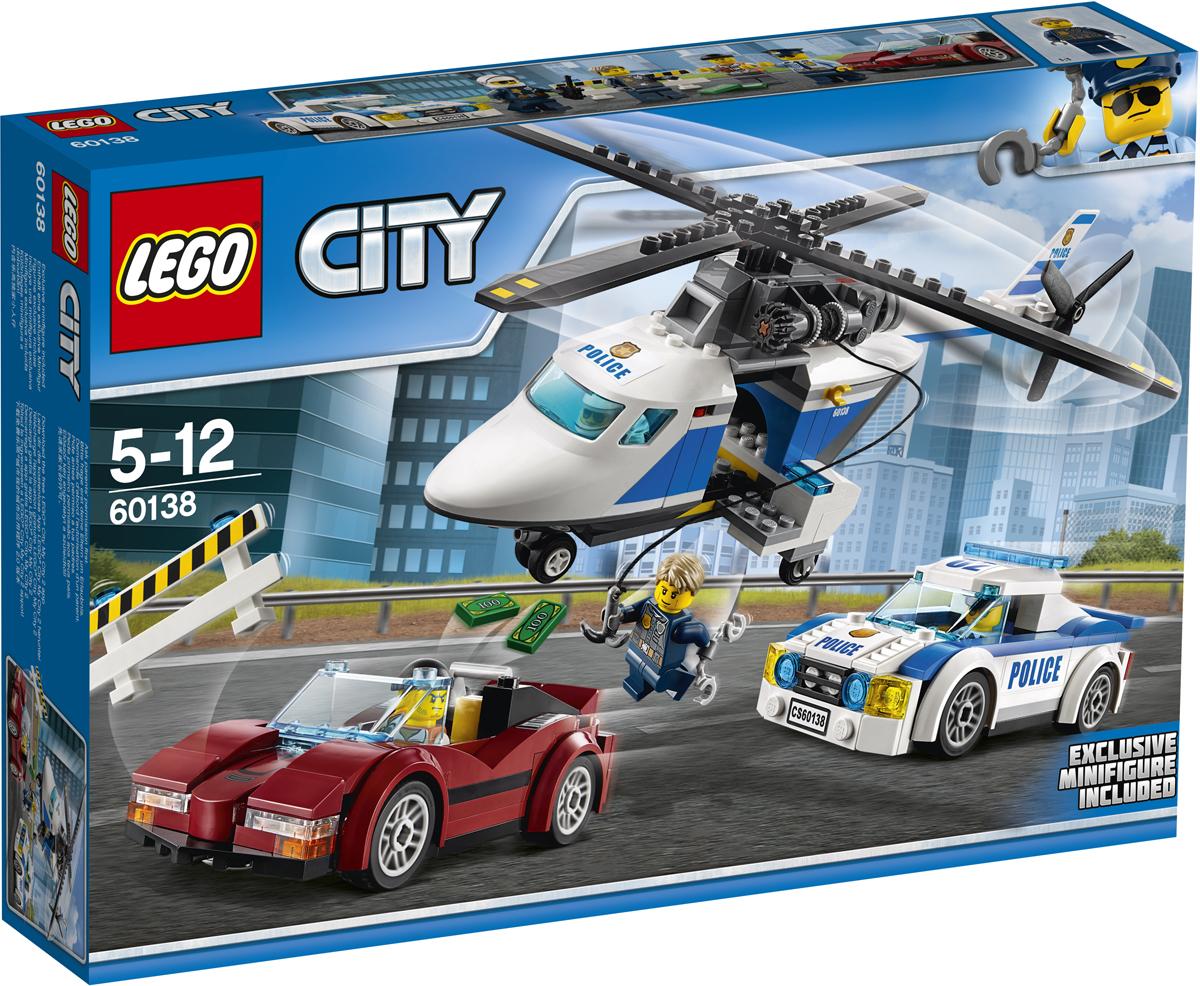 LEGO City Конструктор Стремительная погоня 60138 lego city конструктор внедорожник каскадера 60146