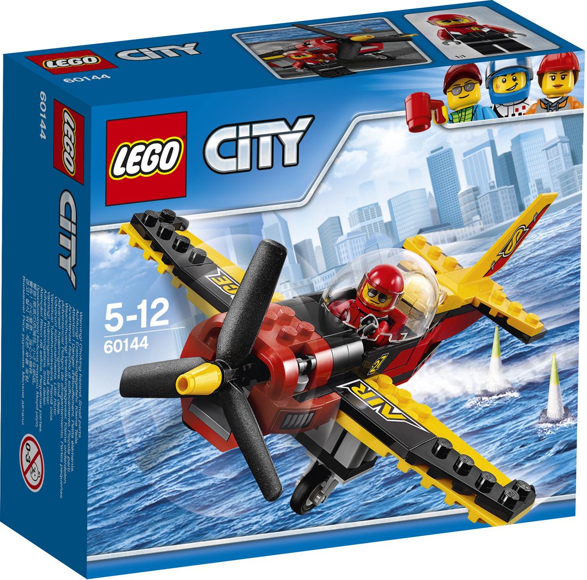 LEGO City Конструктор Гоночный самолет 60144 lego city конструктор внедорожник каскадера 60146