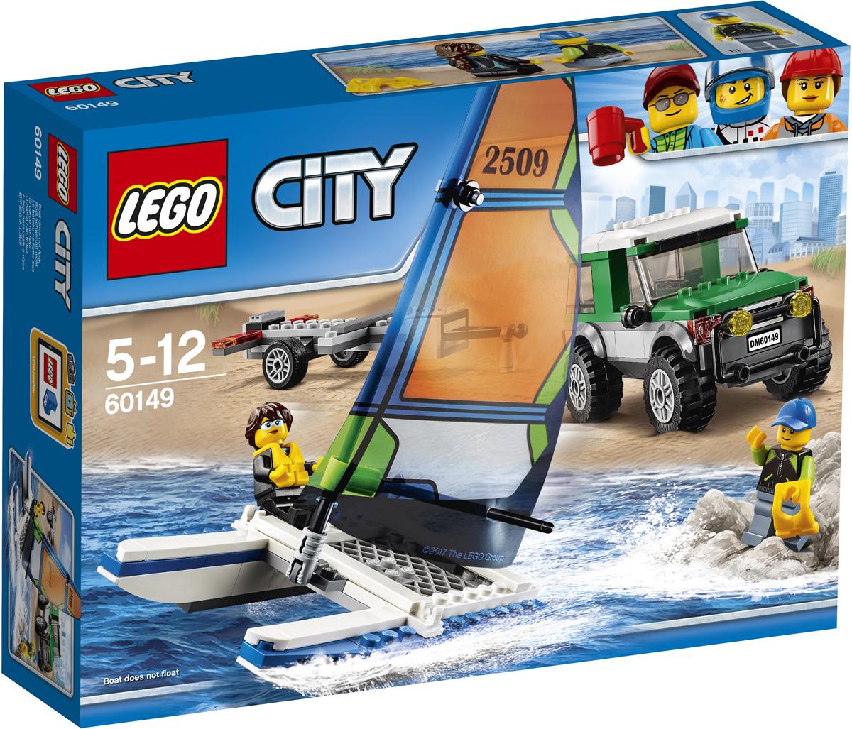 LEGO City Конструктор Внедорожник с прицепом для катамарана 60149 lego city конструктор внедорожник каскадера 60146