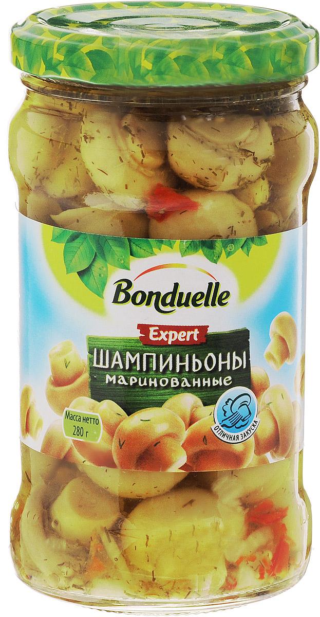 Bonduelle шампиньоны маринованные, 280 г24Маринованные шампиньоны Bonduelle - для тех, кто ищет что-то уникальное. Шампиньоны Bonduelle не имеют аналогов на российском рынке: ровные, золотистые, аппетитные - они не только красивы, но и безумно вкусны! Все благодаря особенной рецептуре приятного сладкого маринада с укропом, красным болгарским перцем и специями. Уважаемые клиенты! Обращаем ваше внимание, что полный перечень состава продукта представлен на дополнительном изображении.