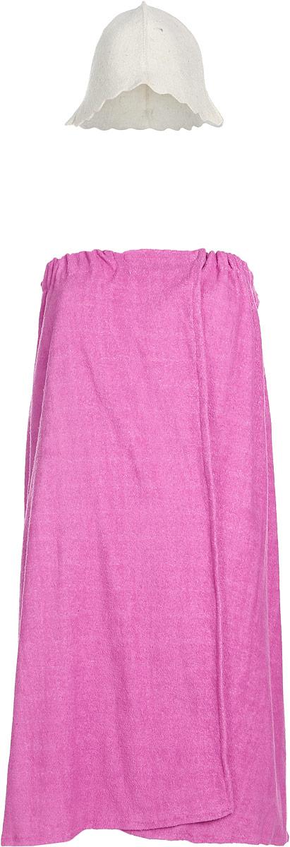 Набор для бани и сауны Proffi  Sauna , цвет: белый, розовый, 2 предмета - Баня, сауна