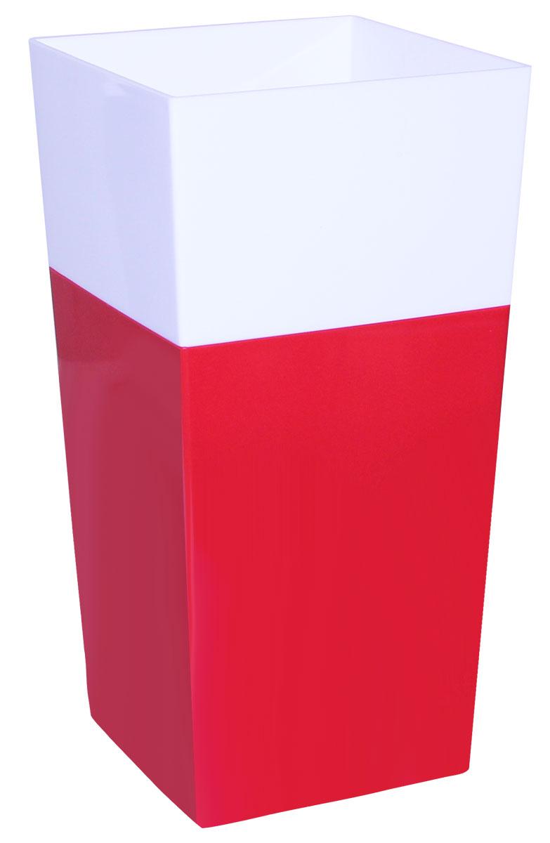 Кашпо Idea Дуал, цвет: красный, 14 х 14 х 26 см531-105Кашпо Idea Дуал изготовлено из прочного полипропилена (пластика) и предназначено для выращивания растений, цветов и трав в домашних условиях. Такое кашпо порадует вас функциональностью, а благодаря лаконичному дизайну впишется в любой интерьер помещения. Размер кашпо: 14 х 14 х 26 см.