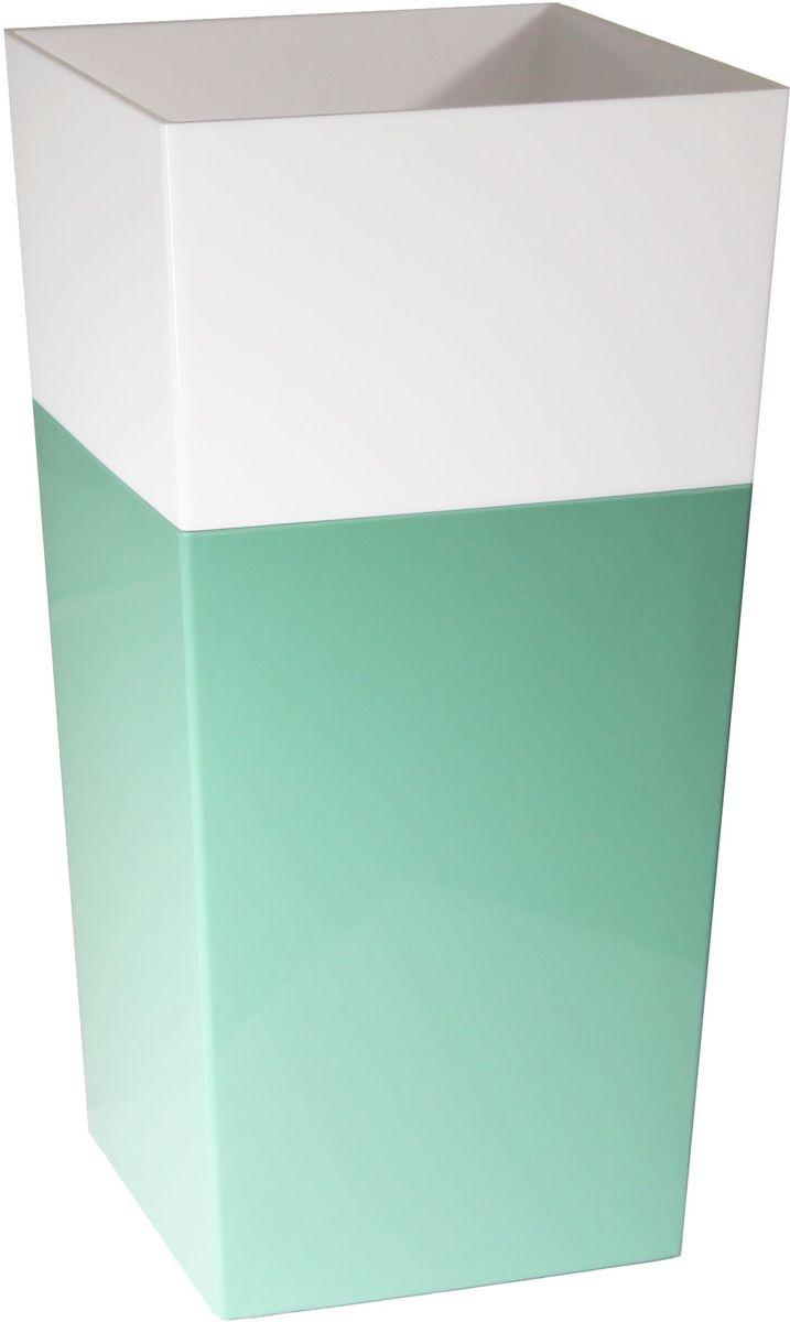 Кашпо Idea Дуал, цвет: мята, 14 х 14 х 26 см531-105Кашпо Idea Дуал изготовлено из прочного полипропилена (пластика) и предназначено для выращивания растений, цветов и трав в домашних условиях. Такое кашпо порадует вас функциональностью, а благодаря лаконичному дизайну впишется в любой интерьер помещения. Размер кашпо: 14 х 14 х 26 см.