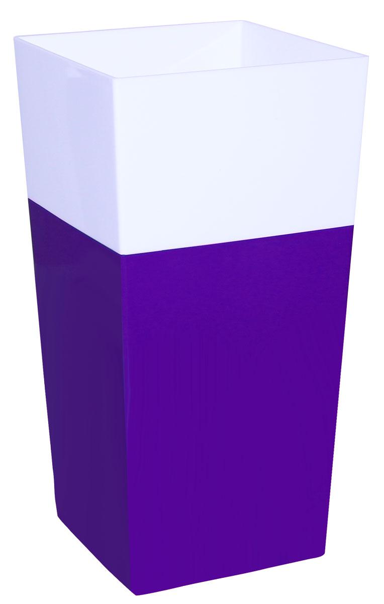 Кашпо Idea Дуал, цвет: фиолетовый, 14 х 14 х 26 см531-105Кашпо Idea Дуал изготовлено из прочного полипропилена (пластика) и предназначено для выращивания растений, цветов и трав в домашних условиях. Такое кашпо порадует вас функциональностью, а благодаря лаконичному дизайну впишется в любой интерьер помещения. Размер кашпо: 14 х 14 х 26 см.