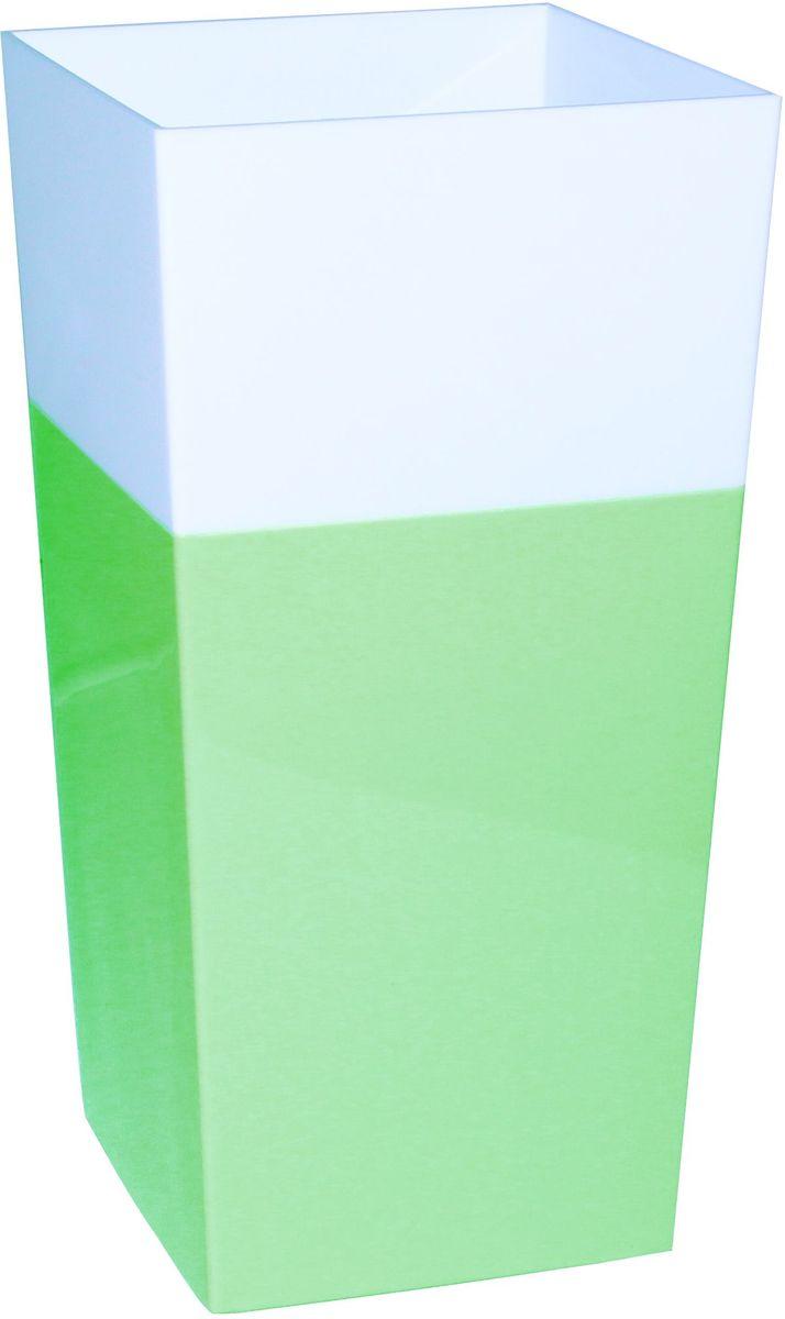 Кашпо Idea Дуал, цвет: фисташковый, 14 х 14 х 26 см4612754052561Кашпо Idea Дуал изготовлено из прочного полипропилена (пластика) и предназначено для выращивания растений, цветов и трав в домашних условиях. Такое кашпо порадует вас функциональностью, а благодаря лаконичному дизайну впишется в любой интерьер помещения. Размер кашпо: 14 х 14 х 26 см.