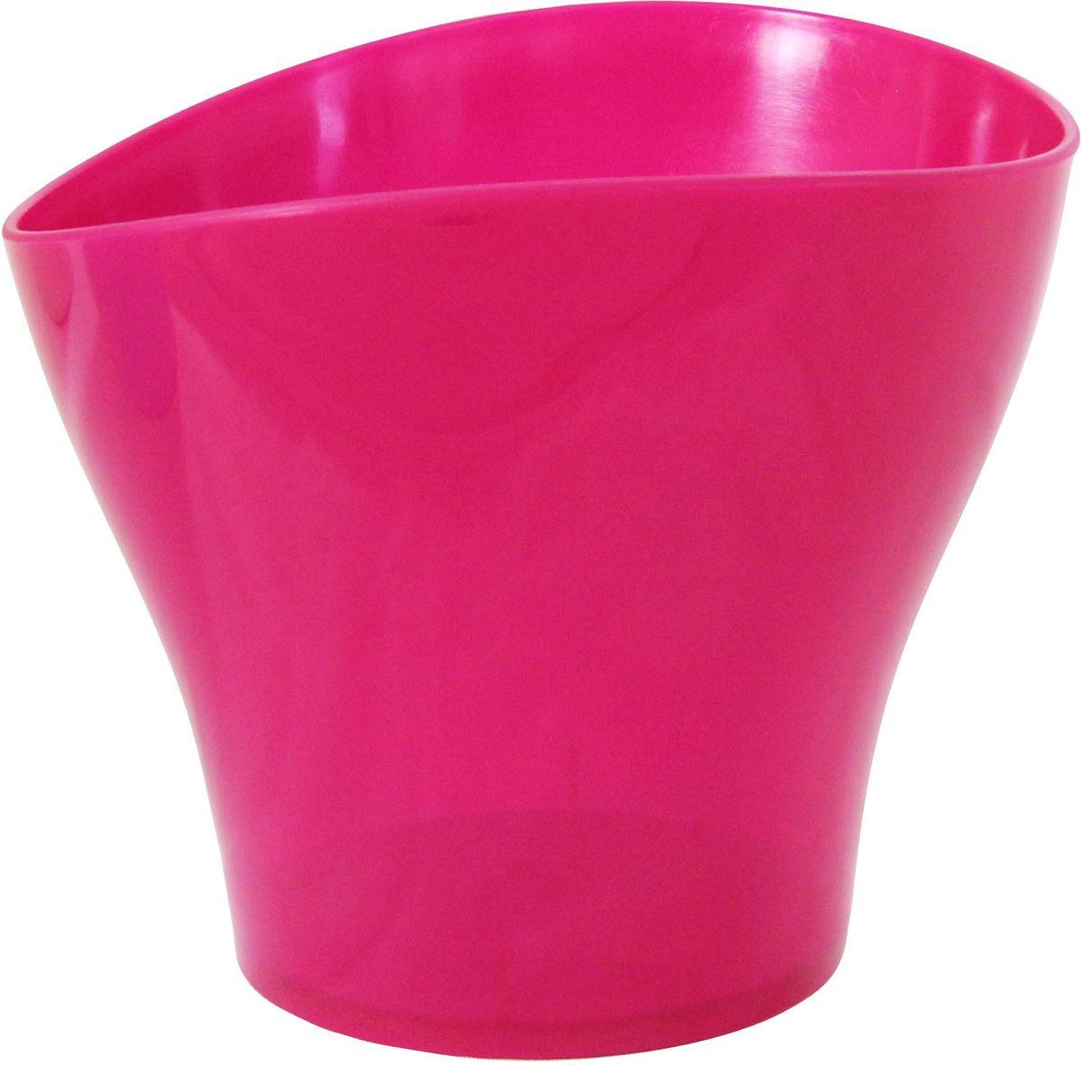 Кашпо Idea Волна, цвет: малиновый, 800 млZ-0307Кашпо Idea Волна изготовлено из прочного полипропилена (пластика) и предназначено для выращивания растений, цветов и трав в домашних условиях. Такое кашпо порадует вас функциональностью, а благодаря лаконичному дизайну впишется в любой интерьер помещения. Объем кашпо: 0,8 л.