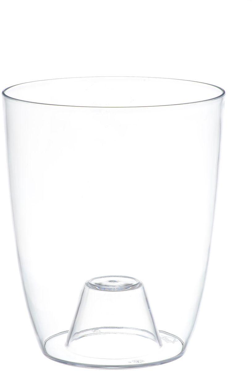 Кашпо Idea Орхидея, цвет: прозрачный, диаметр 12,5 смМ 3147Кашпо Idea Орхидея изготовлено из прочного прозрачного полистирола (пластика). Изделие предназначено для выращивания растений и цветов в домашних условиях. Такое кашпо порадует вас современным дизайном и функциональностью, а также оригинально украсит интерьер помещения. Диаметр по верхнему краю: 12,5 см. Высота кашпо: 15 см.