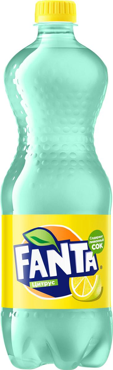 Fanta Цитрус напиток сильногазированный, 1 л246501Fanta Цитрус обладает совершенно необычным цитрусовым вкусом - оцените клевую цветную бутылку!