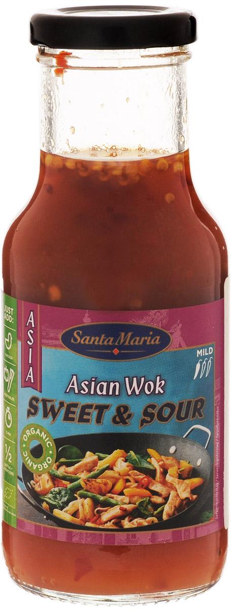 Santa Maria Кисло-сладкий соус, 250 мл0120710Кисло-сладкий соус Santa Maria подходит для приготовления тайских блюд из курицы, морепродуктов, рыбы и овощей.Уважаемые клиенты! Обращаем ваше внимание, что полный перечень состава продукта представлен на дополнительном изображении.