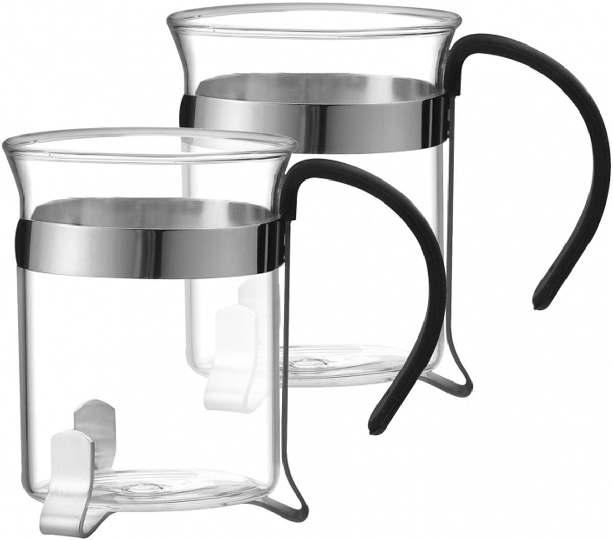 Набор чашек Marta, 200 мл, 2 шт. MT-372654 009312Набор Marta состоит из двух чашек из жаропрочного стекла в оправе из нержавеющей стал и оснащены эргономичными ручками. Чашки имеют устойчивое дно, что гарантирует безопасность и удобство при чаепитии. Изделия легко моются и остаются чистыми продолжительное время.Набор чашек Marta - отличный подарок для любителей горячих напитков и ценителей посуды из качественных экологически чистых материалов. Он сочетает в себе элегантность и практичность, послужит источником отличного настроения для двоих.Подходят для мытья в посудомоечной машине.