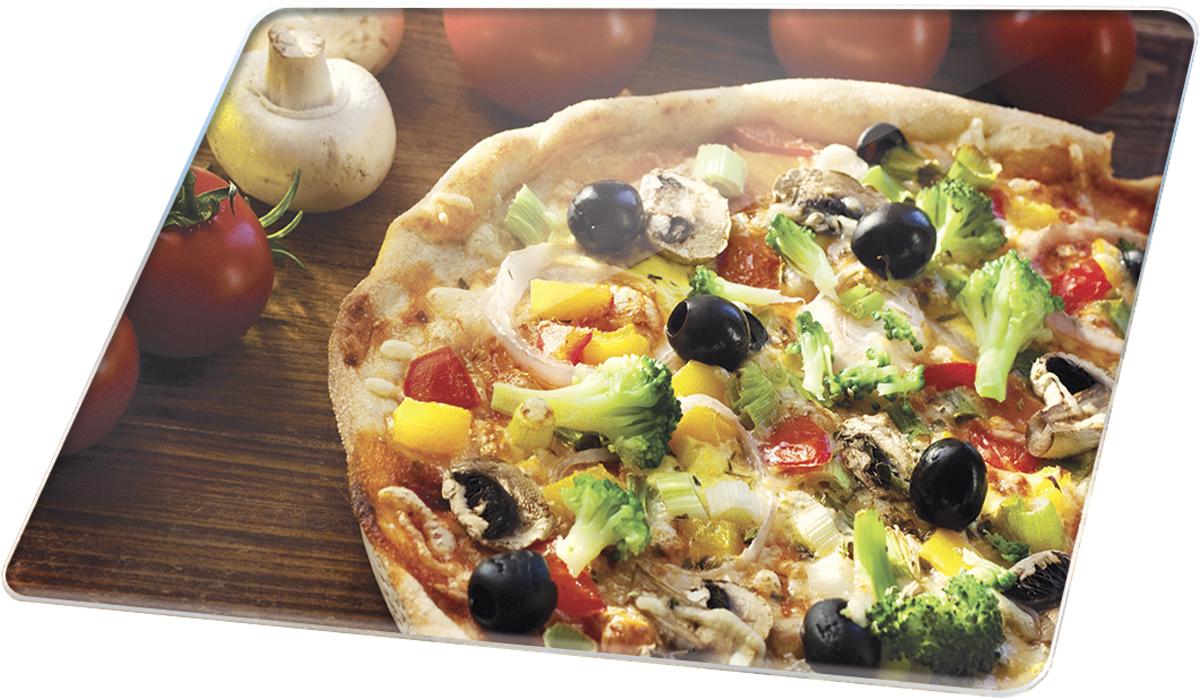 Доска разделочная Marta Пицца, 30 х 20 смFS-91909Многофункциональная разделочная доска Marta Пицца выполнена из закаленного жаропрочного стекла с рифленой поверхностью. Прекрасно подходит для разделки мяса, рыбы, приготовления теста и нарезки любых продуктов. Разделочную доску можно использовать как подставку под горячее блюдо.Закаленное жаропрочное стекло устойчиво к механическим повреждениям, порезам, ударам, царапинам, а также к температурным перепадам и бытовой химии, отлично чистится, в том числе в посудомоечной машине, не впитывает посторонние запахи, не выделяет примесей, сохраняя вкус и аромат продуктов натуральными. Многофункциональность и превосходный дизайн с высококачественным фотопринтом изображения делают доску не только незаменимым кухонным аксессуаром, но и подлинным украшением кухонного интерьера в любом стиле.