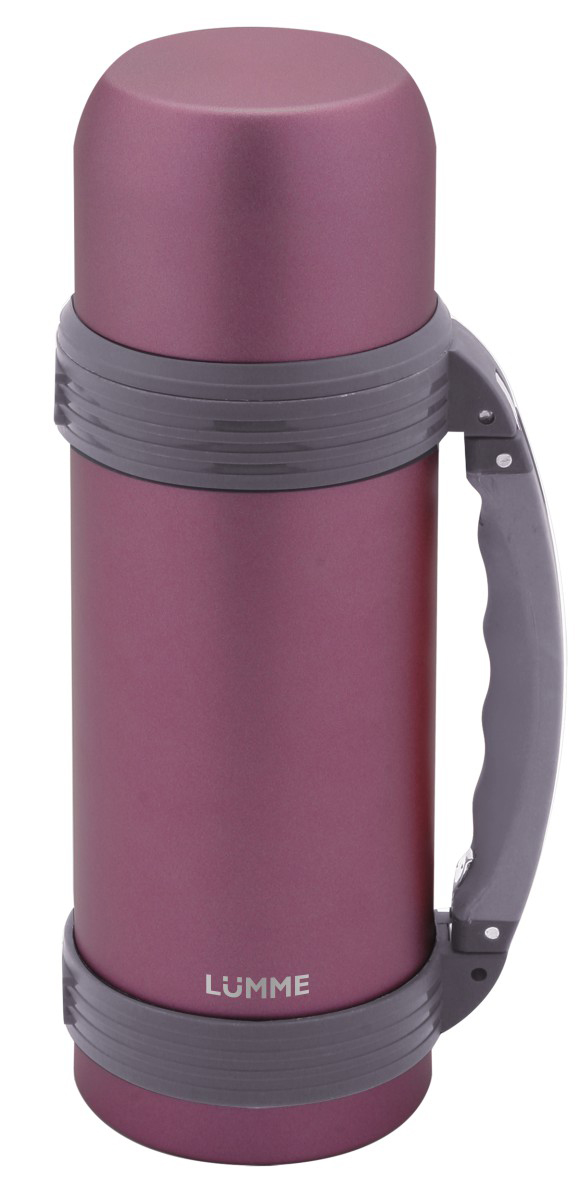 Термос Lumme, цвет: лиловый, 1 лVT-1520(SR)Ударопрочный термос с удобной ручкой объемом 1.0 литр в корпусе из высококачественной нержавеющей стали с вакуумной изоляцией колбы для сохранения горячего напитка в течение 24 часов.Двойная стенка колбы из стали надолго удержит исходную температуру продукта за счет вакуумной изоляции пространства между внутренней и наружной стенками колбы.Термос оборудован специальной крышкой, которая предотвращает изменение температуры внутри термоса. Крышка может быть использована как чашка.Большой объем внутренней колбы 1 литр - идеален для долгих поездок и походов.Благодаря удобной ручке с термосом справится даже ребенок.Хороший термос - отличный подарок и надежный источник энергии при наступлении усталости.