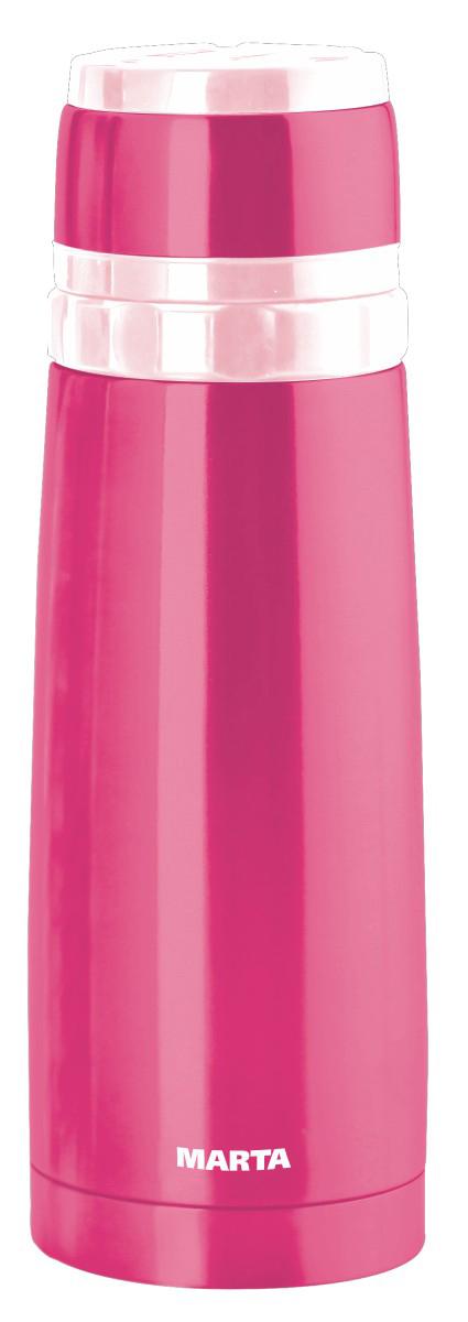 Термос Marta, 500 мл115510Ударопрочный компактный термос Marta прекрасно подходит для горячих и холодных напитков. Корпус выполнен из высококачественной нержавеющей стали с вакуумной изоляцией колбы для сохранения горячего напитка в течение 15 часов. Верхнюю крышку можно использовать в качестве чаши для напитка. Высококачественные материалы сохраняют натуральный вкус и аромат приготовленного напитка, а технология вакуумной изоляции колбы - его температуру в течение длительного времени. Благодаря яркой расцветки корпуса термос особенно хорош для детей, чтобы на экскурсии или в небольшом путешествии поднять настроение и набраться сил. Хороший термос – отличный подарок и надежный источник энергии при наступлении усталости.