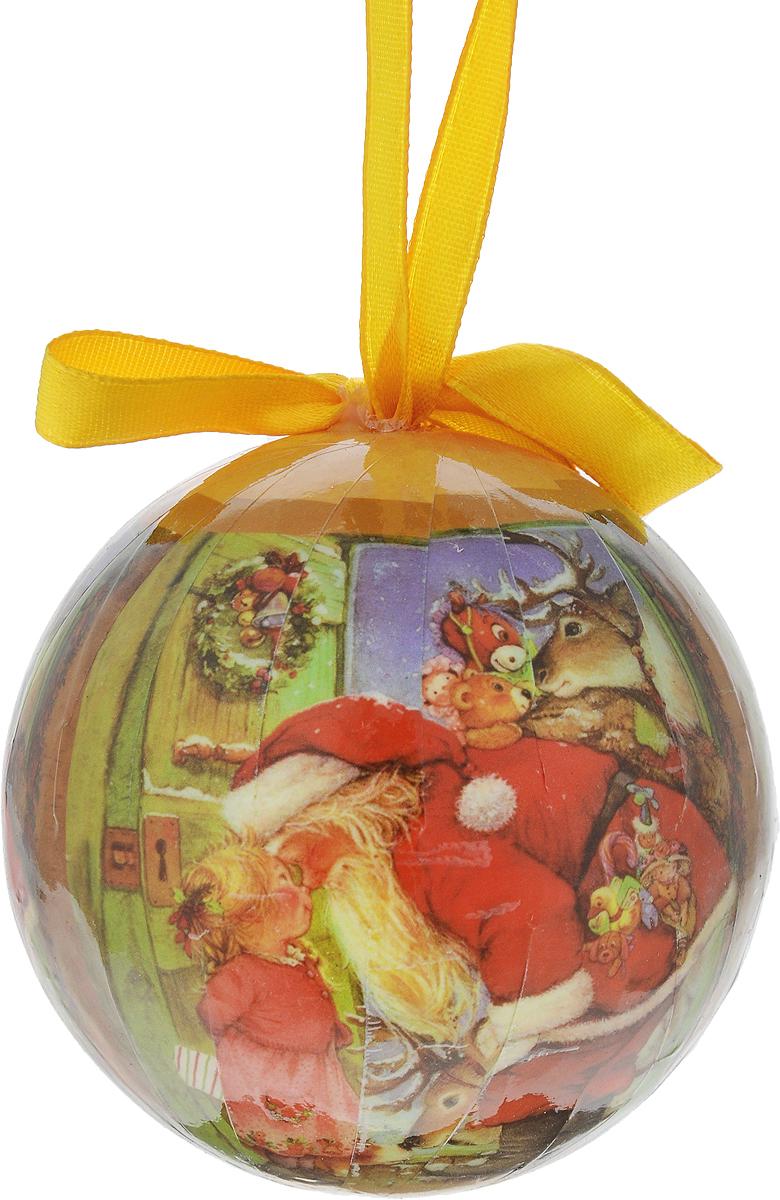 Новогоднее подвесное украшение Erich Krause Рождественские мечты, диаметр 7,5 см